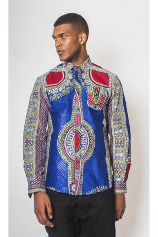 Bambo Dashiki - Long-Sleeved Shirt - Men's