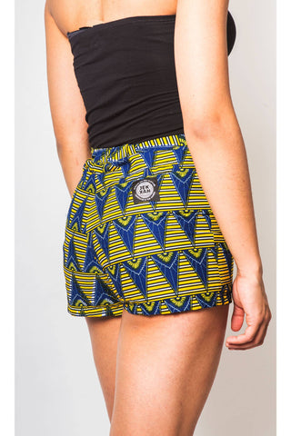 African Print Shorts Womens by JEKKAH