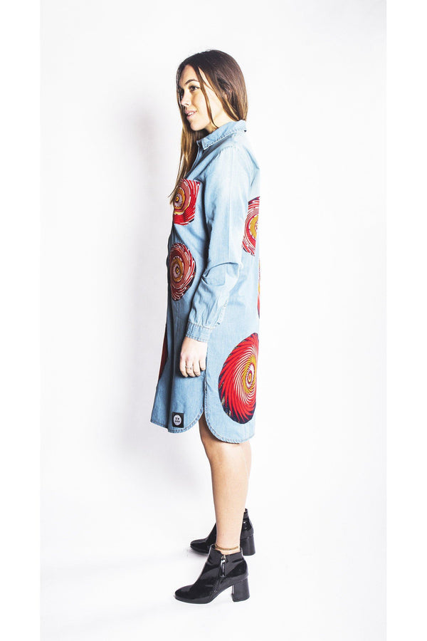Bondali - Denim Shirt Dress - Women's