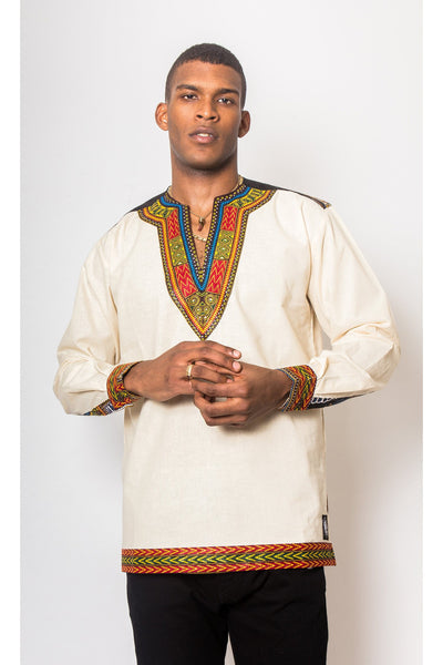 Jali Dashiki Organic - African Long-Sleeve Shirt - Men's