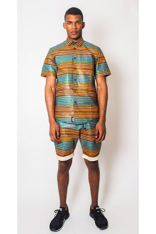 African Print Shorts Men's JEKKAH
