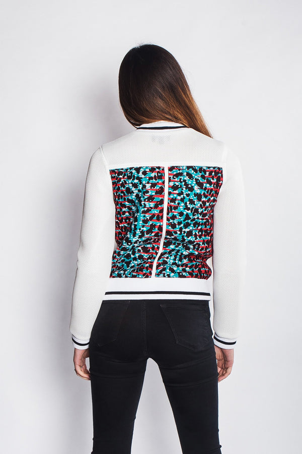 African Print Netted Bomber Jacket Womens JEKKAH