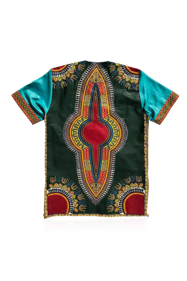 LUMO - Dark Green Dashiki - Unisex