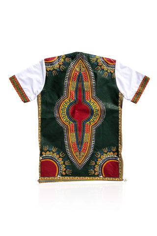 MARU - Dark Green Dashiki - Unisex