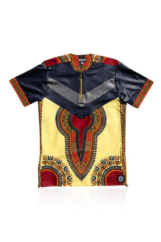 NIORO - Cream/Navy Dashiki - Unisex