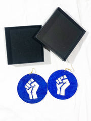 MANDINA - Unity/Power Fist - Deep Blue - Earring
