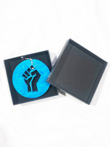 MANDINA - Unity/Power Fist - Sea Blue - Earring