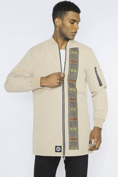 Sokone Dashiki - Longline Jacket - Men's