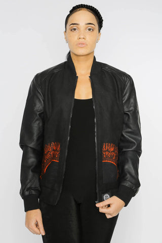 Mbacke Dashiki - Bomber Jacket - Women's