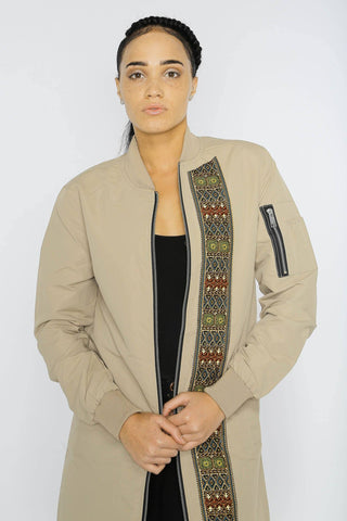 Sokone Dashiki - Longline Jacket - Women's