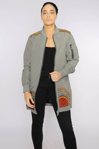 Kanel Dashiki - Longline Jacket - Women's