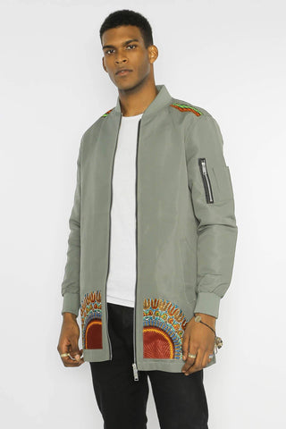 Kanel Dashiki - Longline Jacket - Men's