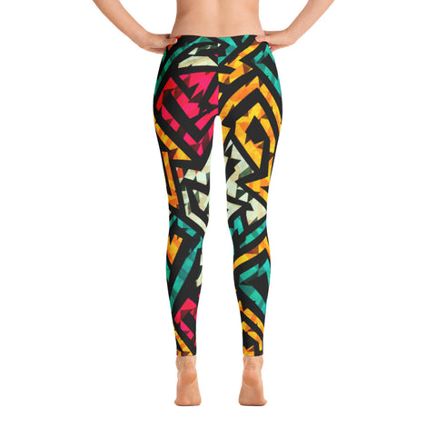 DJEMBE - African Print Leggings - Women's