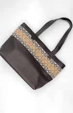 Genuine Leather Tote Bag - Chocolate