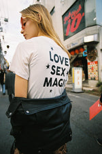 LOVE, SEX MAGIC CROPPED TEE