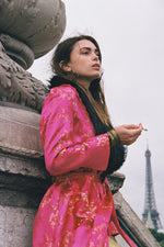 WHO'S THAT GIRL DUSTER COAT- FUCHSIA PINK