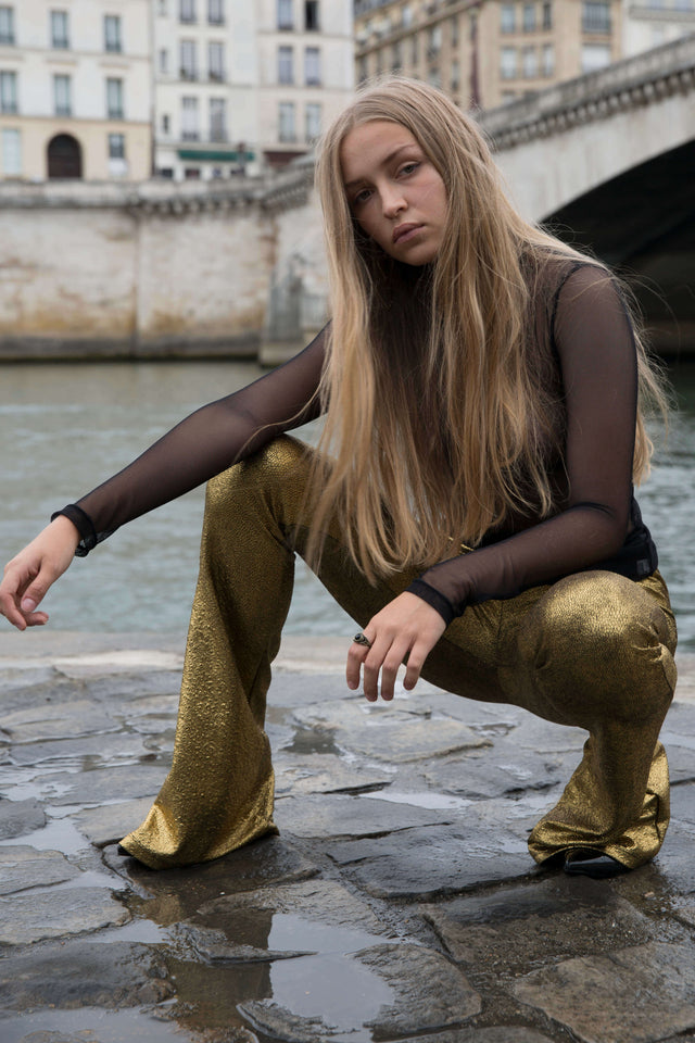 SOLID GOLD FLARE PANTS