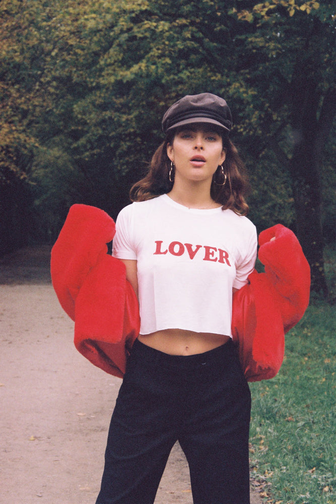 NEW!! CROPPED LOVER TEE