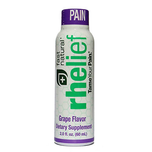 Grape rhelief® offers natural pain relief management with feverfew, butturbur, arginine, and other natural herbs meant to reduce inflammation that can cause pain.