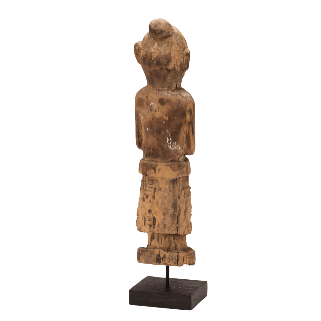 Carved Wooden Statue of Timor