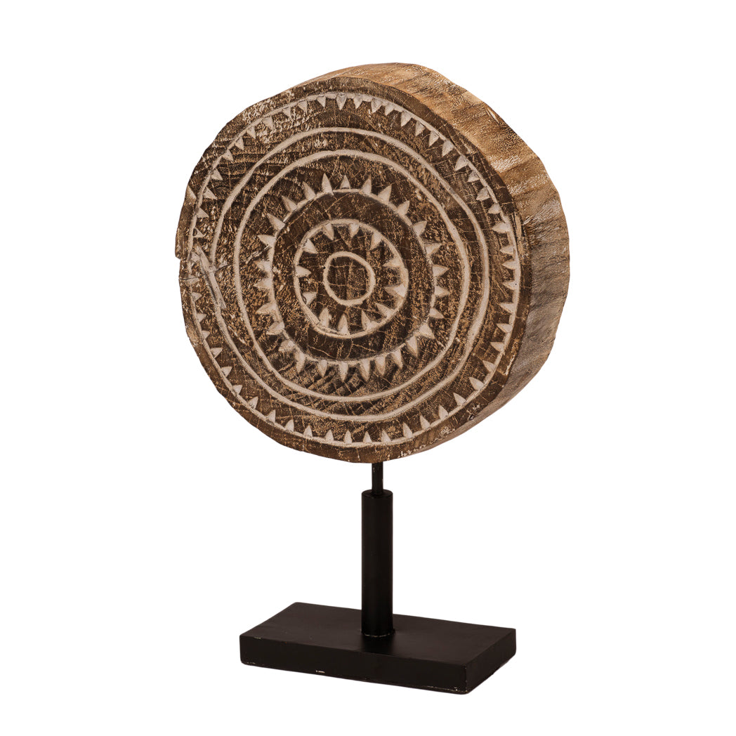 Engraved Wooden Disc of Sumba Small