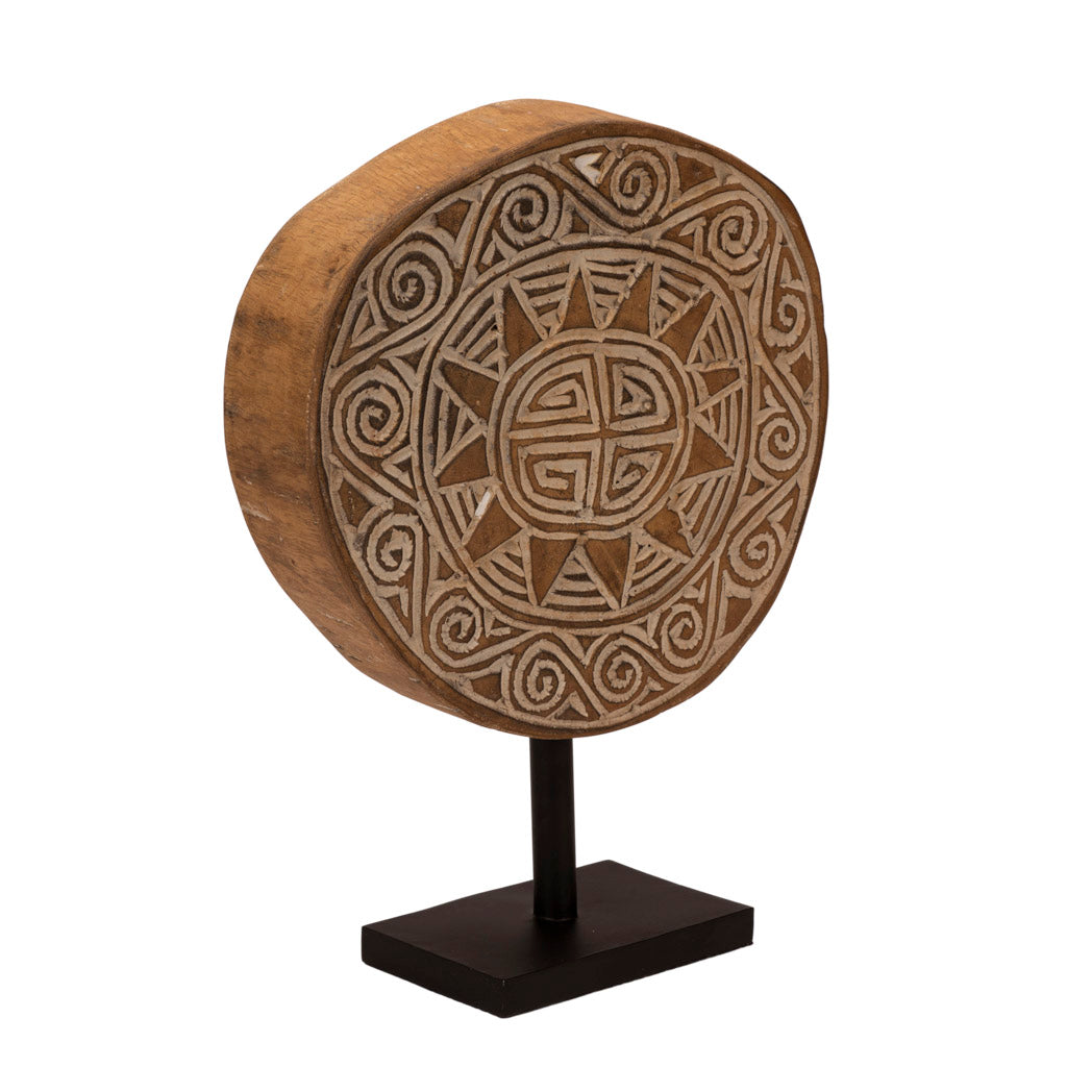 Engraved Wooden Disc of Sumba Medium