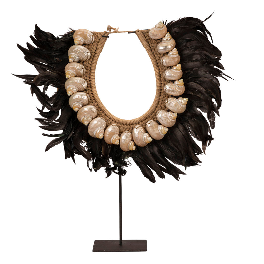 Papua Black Feather Necklace