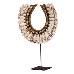 Papua Cowrie and Oval Shell Necklace