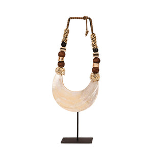 Papua Kima Shell and White Mother-of-Pearl Necklace
