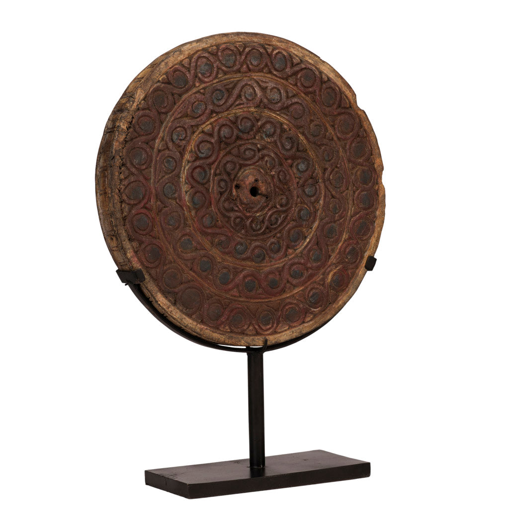 Engraved Round Disc of Java Large