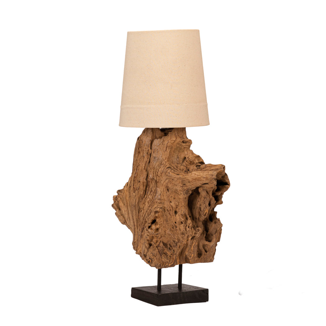 Wooden Erosion Lamp of Java