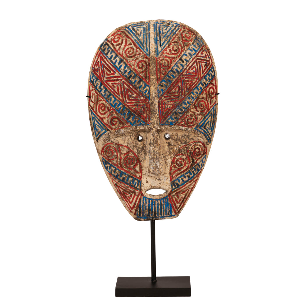 Timor Red & Blue Tribal Mask