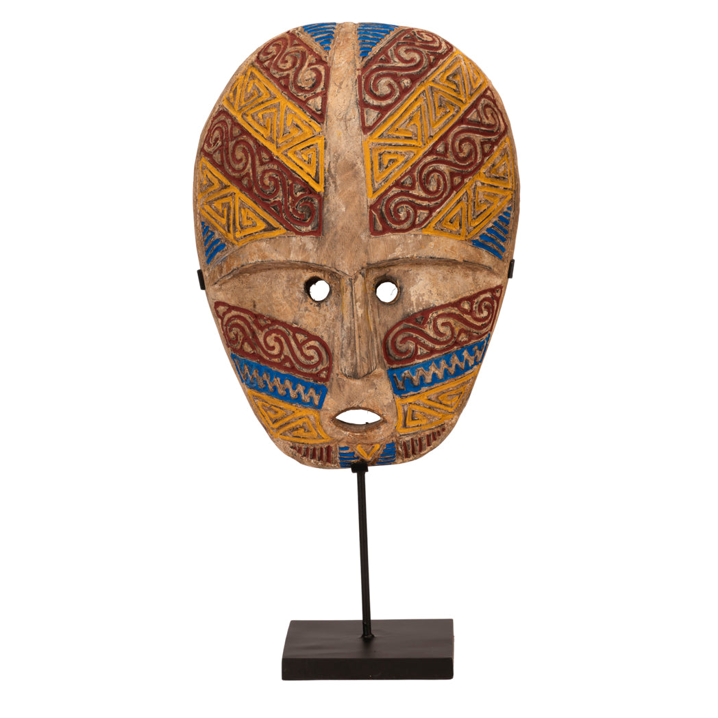 Timor Red, Blue & Yellow Tribal Mask