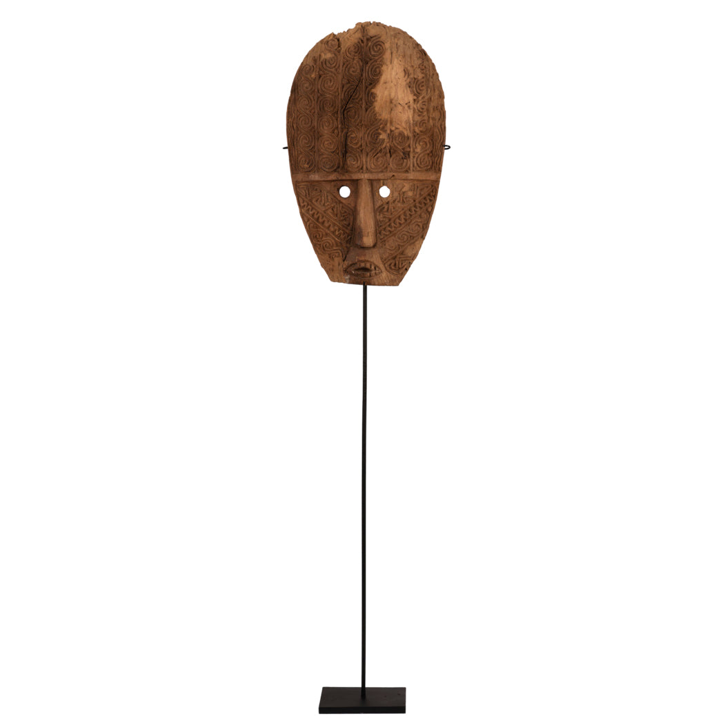 Ancestral Tribal Mask on High Stand