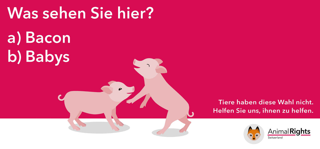 Animal Rights Switzerland Plakat