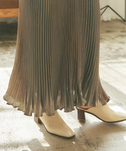 Load image into Gallery viewer, Shiny pleated long skirt  (auwg0212)