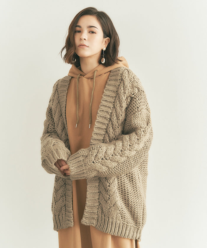 Cable Design Knit / Cardigan (auxn0310)