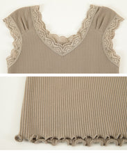 Load image into Gallery viewer, Rib Lace Tank Top (avjn0234)