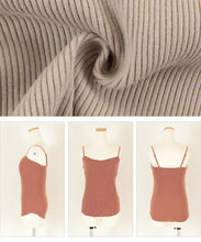 Load image into Gallery viewer, Rib camisole with bra cup  (avjn0303)
