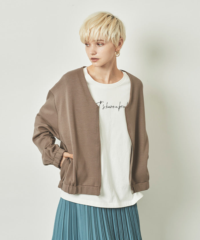 Cardboard Knit No Color Blouson (awjn0355)