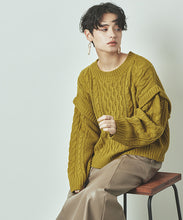 Load image into Gallery viewer, Layered Cable Knit Pullover (awjr5711)