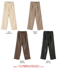 Load image into Gallery viewer, Eco Leather Straight Pants (awjr7126)