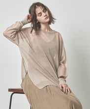 Load image into Gallery viewer, Side slit oversize sheer knit  (awxn0800)
