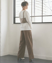 Load image into Gallery viewer, Wool-like Center Pre-Stack Wide Pants (awxp2732)