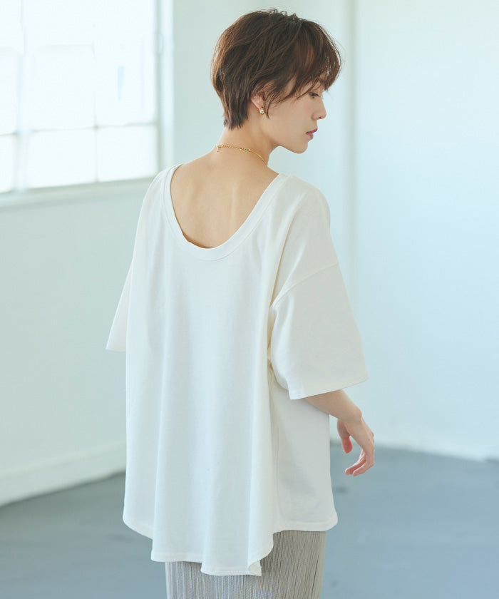 US Cotton Back Open Loose Tops (axjr0004)