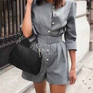 Button Blazer Romper - Joy's Beauty Store