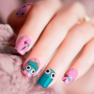 Pink Owl Nail Wraps - Joy's Beauty Store