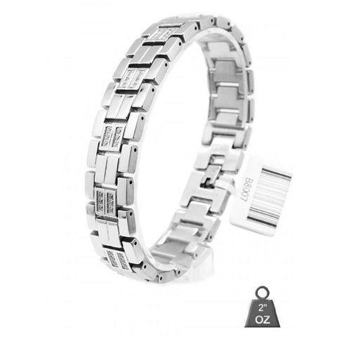Stainless Steel Cubic Zirconia bracelet 80071 - Joy's Beauty Store