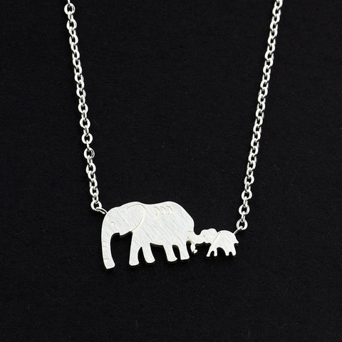 Good Luck Double Elephant Necklaces Stainless - Joy's Beauty Store