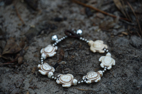 Turtle Silver Boho Bracelet - Joy's Beauty Store